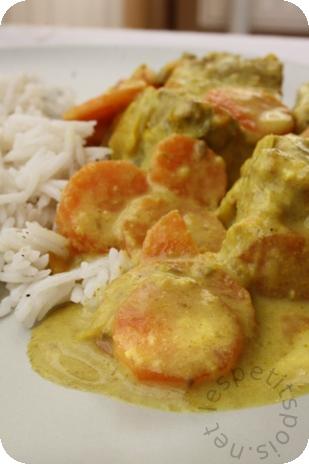 émincé de boeuf au curry